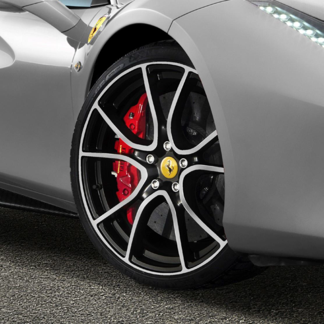 Diamond Finish Glossy Black - Installed for $14,750 at Ferrari of Denver Part Number: 70005110.  If you have any questions on Genuine Ferrari Parts for your Ferrari start a chat, email or call our expert Parts Department at +1-303-996-7393.