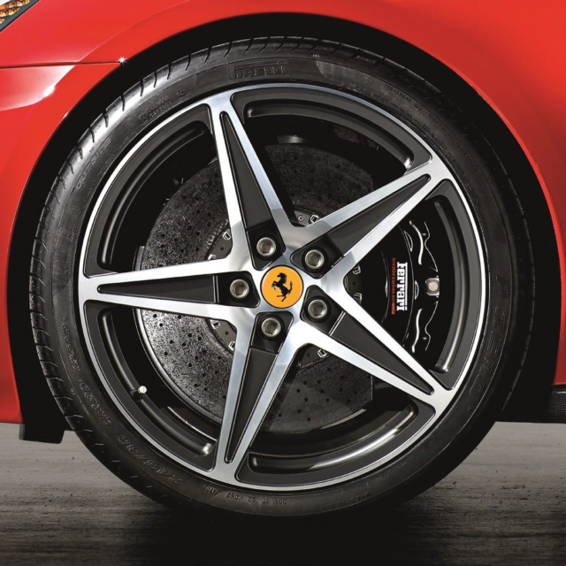 Two-Tone Diamond Finish - Installed for $13,250 at Ferrari of Denver. Part Number: 70001726.  If you have any questions on Genuine Ferrari Parts for your Ferrari start a chat, email or call our expert Parts Department at +1-303-996-7393.