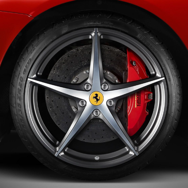 5-Spoke, Two-Tone Diamond Finish- Installed for $12,550 at Ferrari of Denver. Part Number: 70003281.   If you have any questions on Genuine Ferrari Parts for your Ferrari start a chat, email or call our expert Parts Department at +1-303-996-7393.